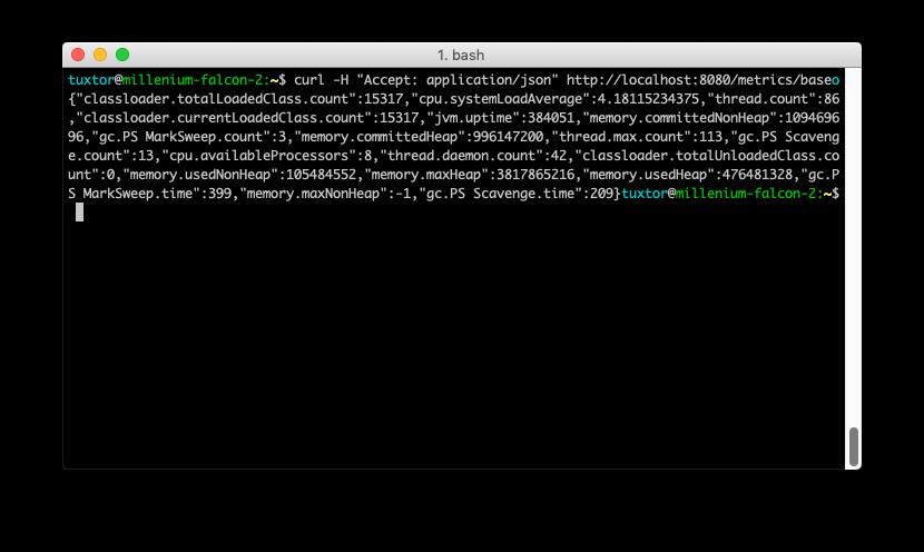 JSON metrics